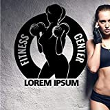 nkfrjz Gym Hanteln Iorem Ipsum Aufkleber Mädchen Fitness Crossfit Aufkleber Bodybuilding Poster...