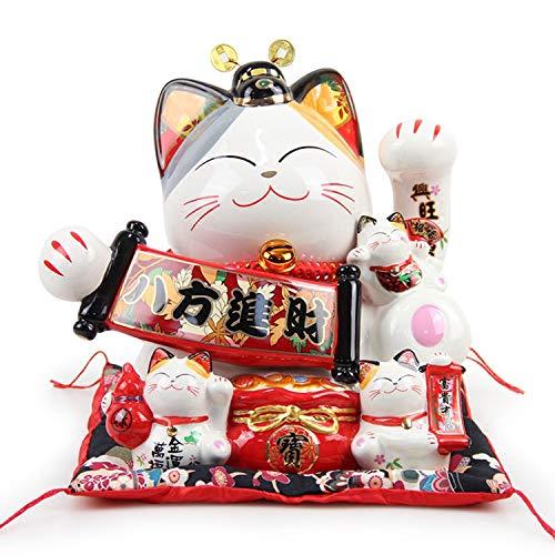 YXXHM- Creative Lucky Cat Shop Decoración Cerámica Hucha, Hucha Personalizada, Regalo de Apertura de cajero