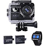 """WiFi Unterwasserkamera Wasserdichte Action Kamera """"30M HD 4k"""" mit 2 Akkus, kostenloses Zubehör für Outdooraktivitäten wie z.B. fahradfahren, skilaufen, motofahren und für Wassersportarten"""