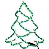 WeRChristmas Christmas Tree Rope Lights Silhouette Decoration, 43 cm - Large, Multi-Colour