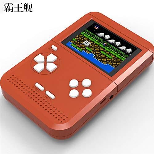 SU Kinderspielkonsole Spielzeug eingebaute 300 Spiele Mini NES FC Contra Super Mario,Brown
