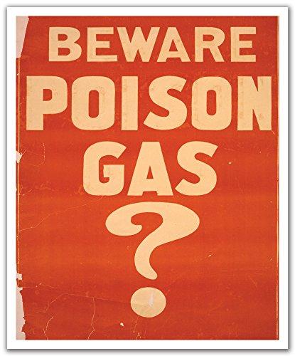 JP London Pos2477 U-strip Peel et bâton du monde vintage War-1 Poison gas détecter amovible Sticker mural Stickers muraux, 50,2 cm par 61 cm