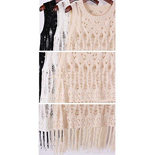 Juleya Frauen gestickte Blumenspitze Crochet verschleiern Bralet Westeober Weiß