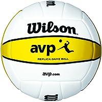 Wilson AVP - Mini pelota, color blanco/amarillo, talla única