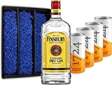 Gin Tonic Set Geschenkset - Finsbury London Dry Gin 70cl (37,5% Vol) + 4x 1724 Tonic Water Dose 200ml -[Enthält Sulfite]