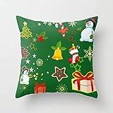 Merry Christmas Series Cotton Linen Square Throw Pillow Cover Decorative Cushion Shams Pillowcase Love Cushion Case for Sofa 18 x 18 inch-Elf