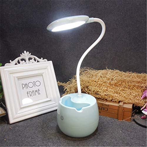 Nachttischlampe Usb Ladeschreibtischlampe Berührungsempfindliche Schlafzimmer Nachttischlampe Led Nachtblau 10 * 10 * 45,5 Cm