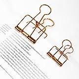 Vazan - clips longue queue en métal trombones or clips couleur des mini-séquences métal signet multifonctionnel [L]