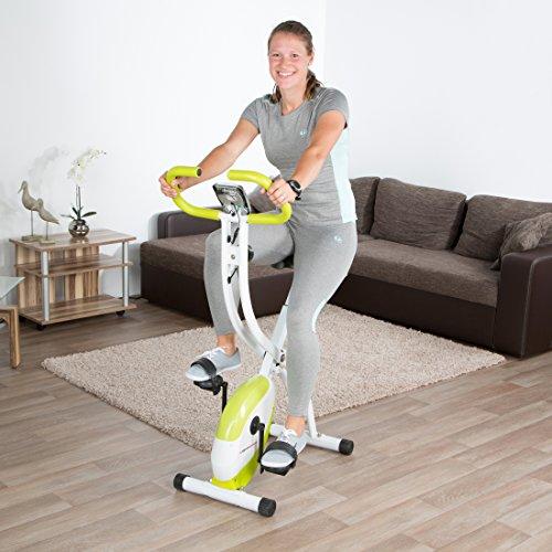Ultrasport Foldable Exercise Bike F-Bike 150 with Pulse Sensor Grips – Without Backrest