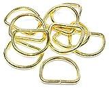 D-Ringe/Halbringe, 10 Stück 30x23x4mm *Farbe: Gold* für 30mm Gurt/Band geeignet.