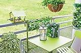 Balkonhängetisch Hängetisch Balkontisch Balkon Tisch klappbar in grün