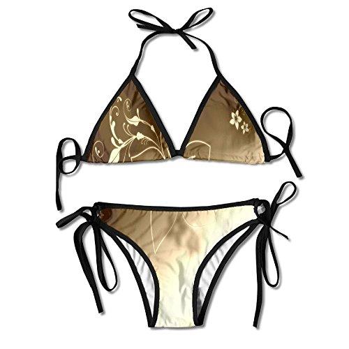 nuohaoshangmao Athletic-Two-Piece-Swimsuits - Athletic Striped Wrap
