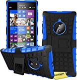 FoneExpert® Nokia Lumia 830 Handy Tasche, Hülle Abdeckung Cover schutzhülle Tough Strong Rugged Shock Proof Heavy Duty Case für Nokia Lumia 830 + Displayschutzfolie (Blau)