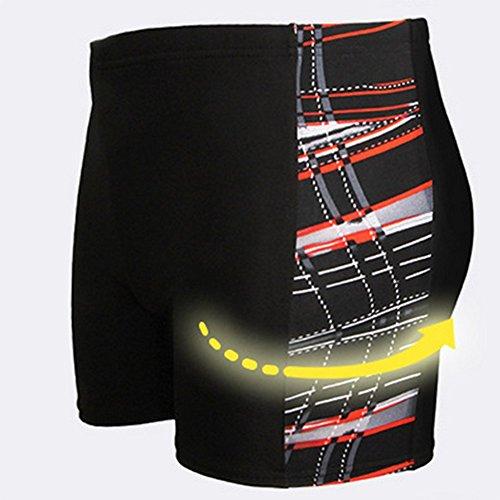 Da.Wa Badeshorts Fashion Mens Badehosen Swimming Shorts Swimwear Boxer Shorts Rote
