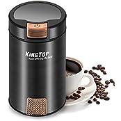 KingTop Elektrische Kaffeemühle 200W Hochleistung zum mahlen Kaffeebohnen Kräutern Nüsse Gewürze Getreide