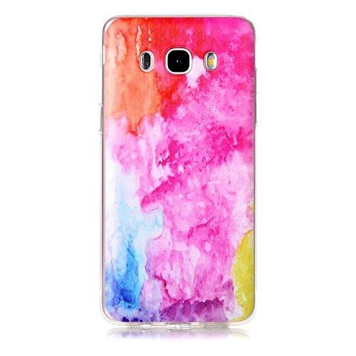 Samsung Galaxy J510 (2016) case,TXLING Crystal Case Hülle Klare Ultradünne Silikon Gel Schutzhülle Durchsichtig,Malerei Muster Transparent TPU Silikon Schutz Handy Hülle Case Tasche Etui TPU Bumper Case Schutzhülle für Samsung (Metallic Galaxy Handschuhe Gold)