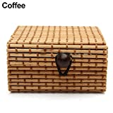 TAOtTAO Ring Necklace Earrings Bamboo Wooden Case Jewelry Storage Boxes Holder Posh
