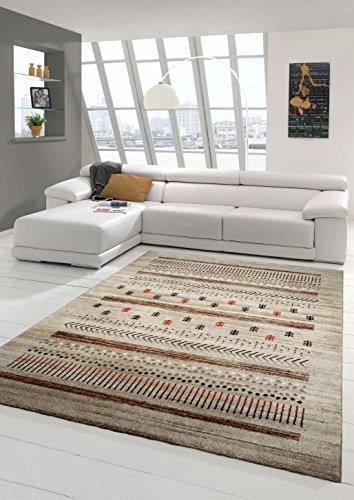 Designer Teppich Moderner Teppich Wohnzimmer Teppich Barock Design in Braun Beige Taupe Rot Größe 160x230 cm