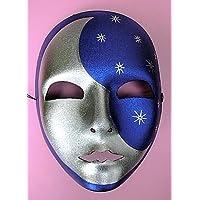 Gesichtsmaske Mond Silbermaske Mondmaske silber Halbmond Maske Faschingsmaske
