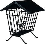 Trixie 60909 Heuraufe zum Aufstellen mit Dach, 20 x 23 x 20 cm, schwarz