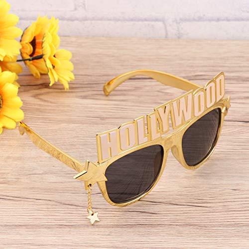 Amosfun Lustige Brille Party Sonnenbrille Hollywood Kostüm Sonnenbrille Neuheit Eyewear Geburtstagsgeschenk