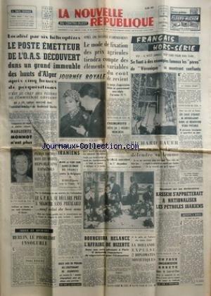NOUVELLE REPUBLIQUE (LA) [No 5195] du 13/10/1961 -...