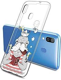 Suhctup Compatible con Samsung Galaxy S8 Funda de Transparente Silicona con Dibujos Lindo Animados Animal Diseño Patrón Cárcasa Suave Flexible Ultrafina TPU Antigolpes Protección Caso, Animal Barbudo