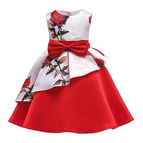 Pageantry Prinzessin Kleid Baby Mädchen Brautjungfer Kleid Geburtstag Beiläufig Retro Vorabend Party Hochzeit Bowknot Stickerei Abschlussball Abendessen Kleid Halloween Kostüme