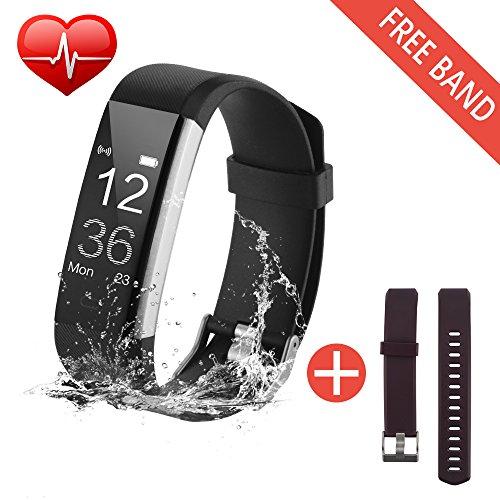 Fitness Armbänder Aktivitätstracker,Bonega fitnessuhr Wasserdichte Herzfrequenz-Messgerät...