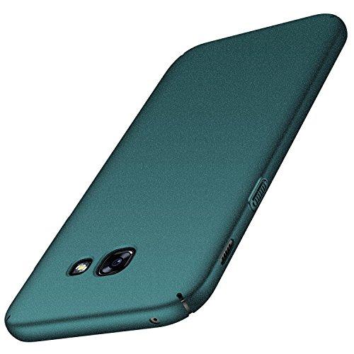 Anccer Serie Matte für Samsung Galaxy A3 2017 Hülle, Elastische Schockabsorption und Ultra Thin Design (Kies Grün)