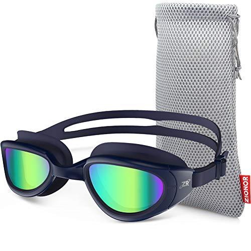 ZIONOR Occhiali da Nuoto, G6 Occhialini da Nuoto con Specchio/Trasparente Lente Protezione UV Impermeabile Anti-Nebbia Regolabile Cinturino Comfort Fit per Unisex-Adulto Uomo Donna Adolescenti