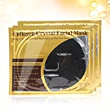 Premium Bio Collagen Crystal Face Facial Mask - Whitening & Moisturizing & Anti-Wrinkle & Oil-control & Pore Reducer & Hydra (3pcs/set, black)