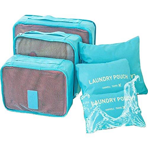 GaodaS Multi Funktions Wasserdicht Veranstalter Reisen Wichtig Lagerung Tasche 3 Reisen Tasche Mit + 3 Beutel (PINK) LIGHTBLUE