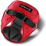 mellows Comfort Fit Hundegeschirr für Kleine Hunde, Weich, Gepolstert, Einfaches Anlegen, Atmungsaktiv, Leicht, Flexibel, 3D Design, Größe S, Rot