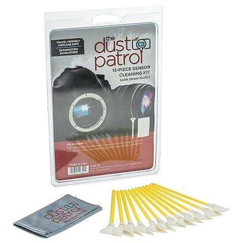 The Dust Patrol Alpha 24mm Premium Sensor Swab Écouvillons pour nettoyage du capteur (boîte de 12) (Jaune)