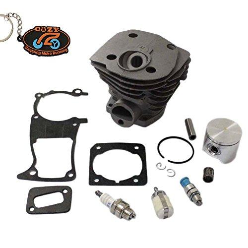 ZY, 44 mm, Zylinder + Kolben Kits Dichtung Zündkerze Dekompressionsventil Kraftstofffilter für HUSQVARNA 346XP 350 Kettensäge 351 353 346xp Kettensäge