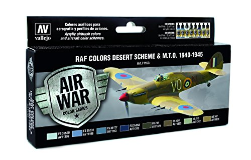 Vallejo Model Air Set - WWII RAF Desert (X8 Colours) - Val71163