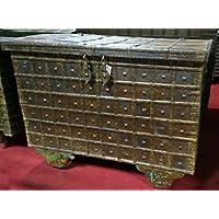 Alte forziere de madera y hierro L116X PR73X H87cm - Muebles de Dormitorio precios