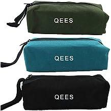 Bolsa de herramientas multiusosde tela para electricistas QEES. Organizador de herramientas con cremallera para regalo, 3unidades (GJB05) largo 24,13 cm x ancho 8,64cm x alto 7,11 cm