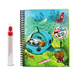 joizo 1pc Magic Water Malbuch Kinder Creative Album Waterpainting Malbuch Unisex Kinderzauberei Wiederverwendbare Wasser-Zeichnungs-Buch (Tier)