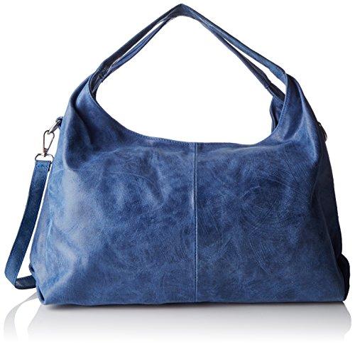 Chicca Borse Damen 80053 Umhängetasche, 46x26x10 cm Blau (Blu Jeans)