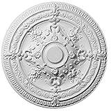 Decosa Rosette Elena - Stuckrosette aus Styropor - individualisierbare Deckenrosette, weiß, 1 Stück à Ø 66 cm