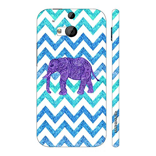 Enthopia Designer Hardshell Case Elephant Chevron Back Cover for HTC One M8  available at amazon for Rs.95