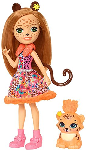 Enchantimals - Cherish Muñeca Cheris Cheetah, Multicolor (Mattel FJJ20)