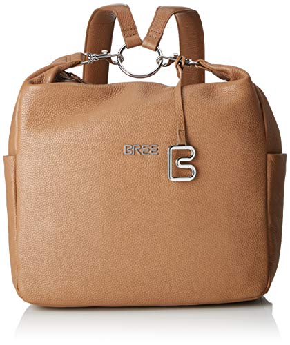 BREE Collection Damen Nola 6, Tan, Backpack S19 Rucksack, Braun, 10x30x28 cm