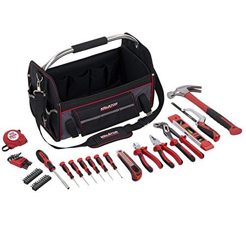Werkzeugkoffer Nylon Werkzeugtasche bestückt 47 Teile - 41 x 23 x 32 cm