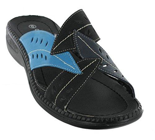 Cushion WalkSabrina - Retro aperto donna Black / Blue