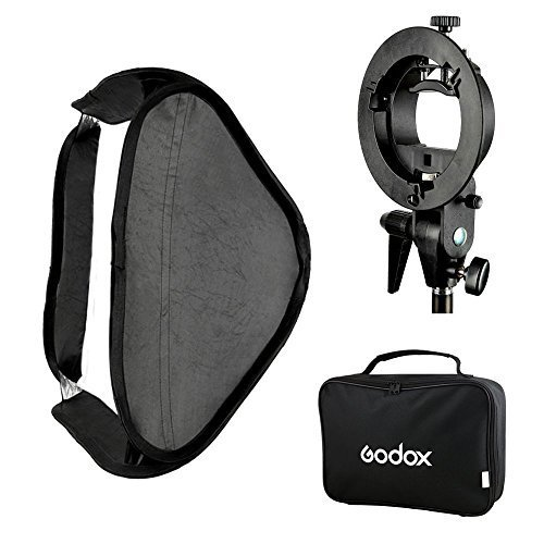 Godox 60x60 Foldable Universal Softbox with S Style Speedlite Bracket for Flash Bowens Mount Accessories Direction Adjustable -