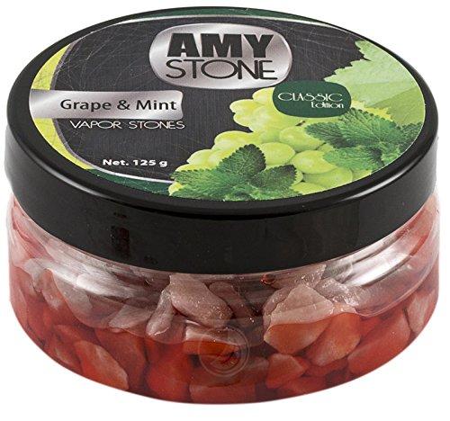 Amy Stone Stein Granulat - Nikotinfreier Tabakersatz (Grape & Mint, 125g)