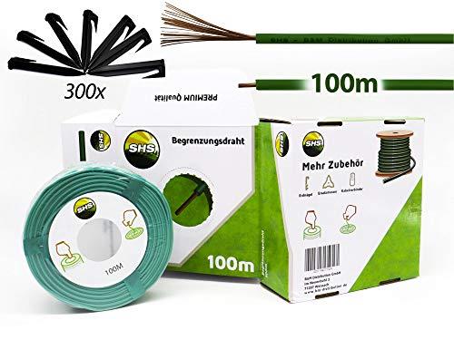 100m - Universal Begrenzungskabel Ø2,7mm Begrenzungsdraht Kabel für Mähroboter Suchkabel Rasenmäher Rasenroboter Zubehör für GARDENA/BOSCH/HUSQVARNA/WORX/HONDA/ROBOMOW/iMow/KÄRCHER uvm.